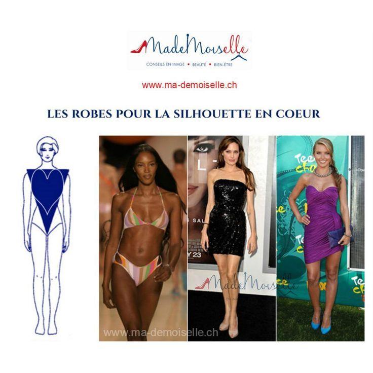 Les Robes (soirée) pour la silhouette en coeur  #MademoiselleSchick_Robe_Silhouette_en_Coeur (archives) http://ift.tt/2a59nO4 Les filles je vous propose un nouveau post sur la silhouette en coeur (triangle renversé ou V) tous ces noms veulent dire la même chose c'est-à-dire on parle d'une silhouette sportive. Dans cet exemple on voit les modèles qu'ont les épaules plus larges que les hanches les jambes galbées et svèltes. Les sportives peuvent être grandes ou petites fines ou rondes. Oui oui…