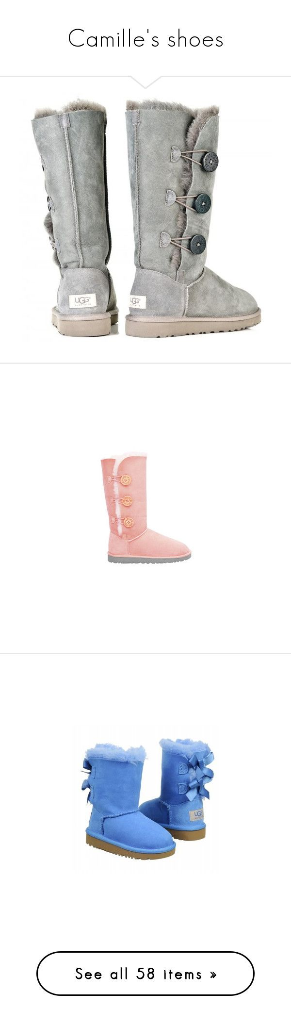 """""""Camille's shoes"""" by lisavo-1 ❤ liked on Polyvore featuring shoes, boots, kids, babies, timberlands, ugg, gray flat shoes, ugg australia boots, wide boots and grey flat shoes"""