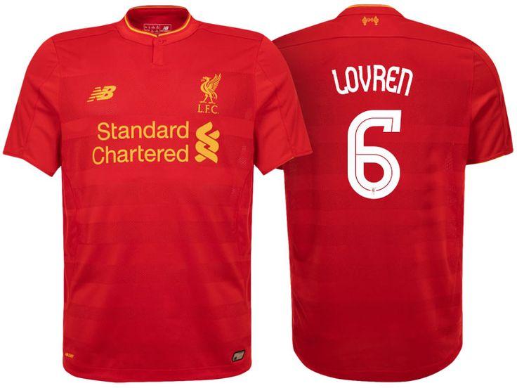 Liverpool #6 Dejan Lovren 2016-17 Home Jersey