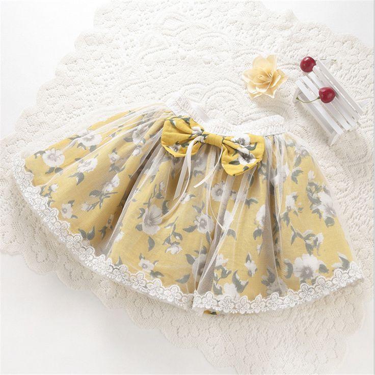 5p140 Печатные Новорожденных девочек Юбки Pettiskirt для детей летом Принцесса Тюль Сетки оптом детская одежда малышей одежда