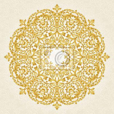 Väggdekor Vektor prydnad i viktoriansk stil.