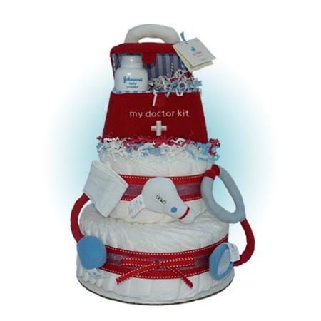 Doctor Kit 2-Tier Baby Shower Diaper Cake