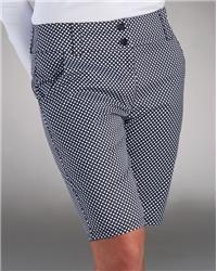 Nancy Lopez Legacy Golf Shorts with black & white check. Size 2-18 and Plus Sizes.