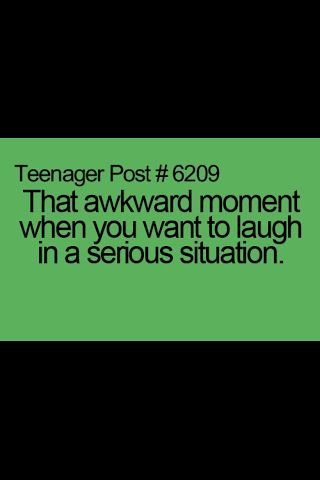 yes this happens to me always. i think i have some disorder of laughin. the last time it happened wen we all students wid teachers had gone to watch a movie n the main actor had sustained a big injury in the movie but he had to run the race with wicked guys. my friend was about to cry n i was juz laughing to see him act............ so i m juz very crazy..!!!!!!!!!!