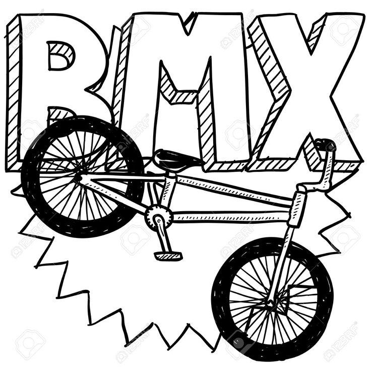 pin olena op рисунки bmx fiets kleurplaten