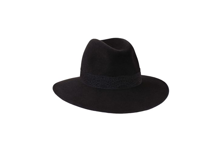 The A/W15 Collection | Willow Fedora | Charcoal  Black | Black Lace Band www.penmayne.com #fedora #hats #accessories