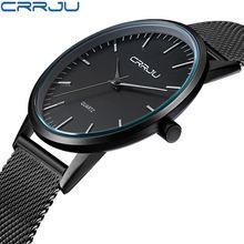 CRRJU Top Relojes de Marca de Lujo Casual Relojes Deportivos de Acero Inoxidable Del Cuarzo de Japón relojes de Pulsera Unisex Para Los Hombres Reloj Militar