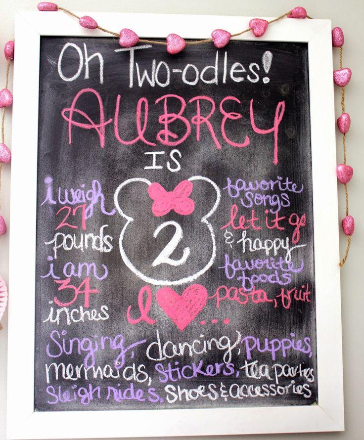 Minnie Mouse Birthday Celebration Party Chalkboard