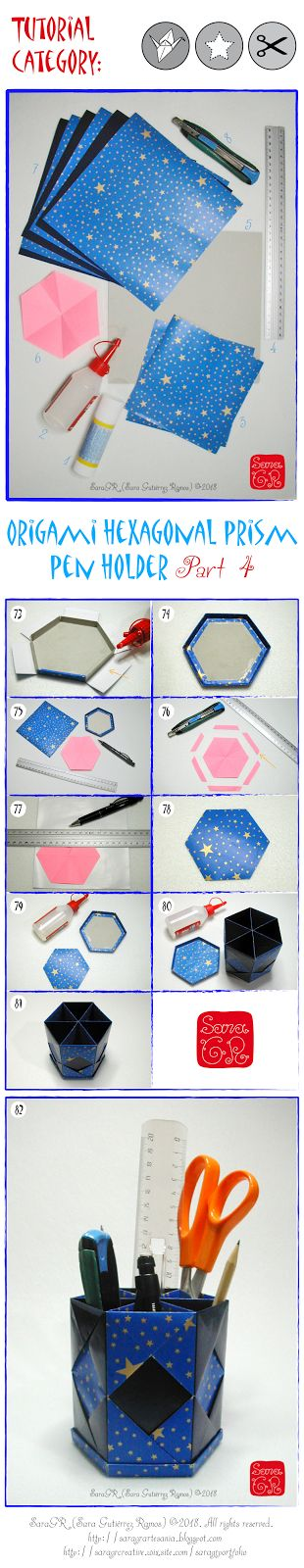 Take a look my new #prismacolor cience #crafts #tutorial about how to make a #hexagonal #prism pen holder, on my blog entry  #prisma #intructions #geometry #science #infographics #geometria #DIY #NASA #ESA #educational #maths #manualitats #ciència