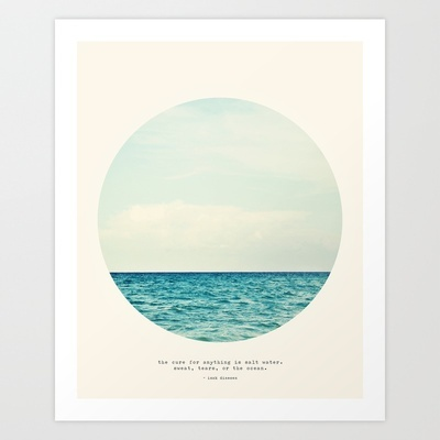 Salt Water Cure Art Print by Tina Crespo - $18.50