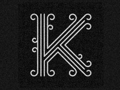 letter K -   by Bryan Couchman: Logo, Lettering, Monogram, Bryan Couchman, Fonts, Typography, Letters, Design, Letter K