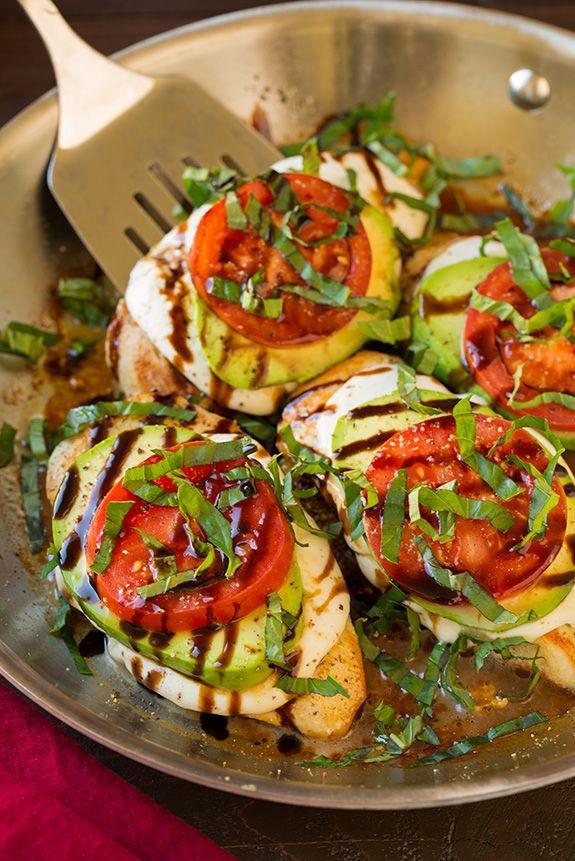 Avocado Caprese Skillet Chicken   Cooking Classy