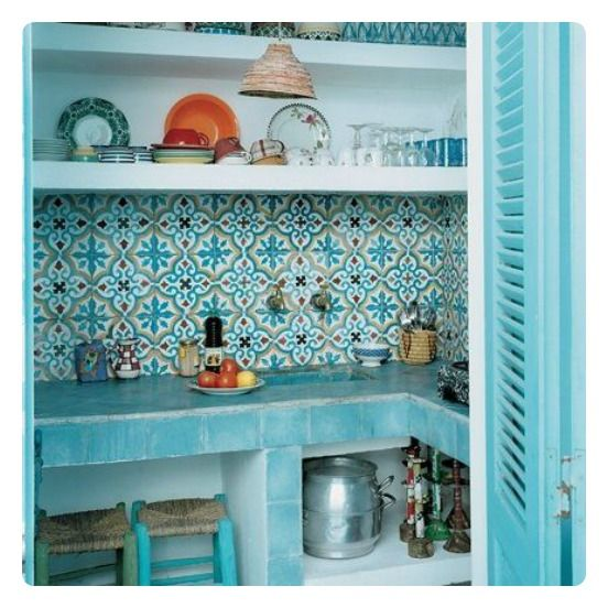 boho turquoise tiles ♡ teaspoonheaven.com