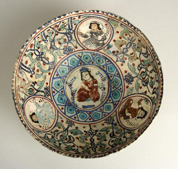 "Minai Bowl - ADC.84 Origin: Central Asia Circa: 12 th Century AD to 13 th Century AD Dimensions: 3.74"" (9.5cm) high x 7.95"" (20.2cm) wide..."