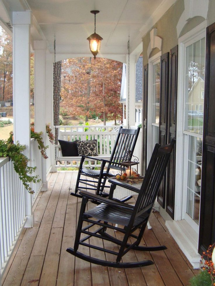 Rocking chairs are great furniture pieces for front porches. Take care of them properly and they will last you years!