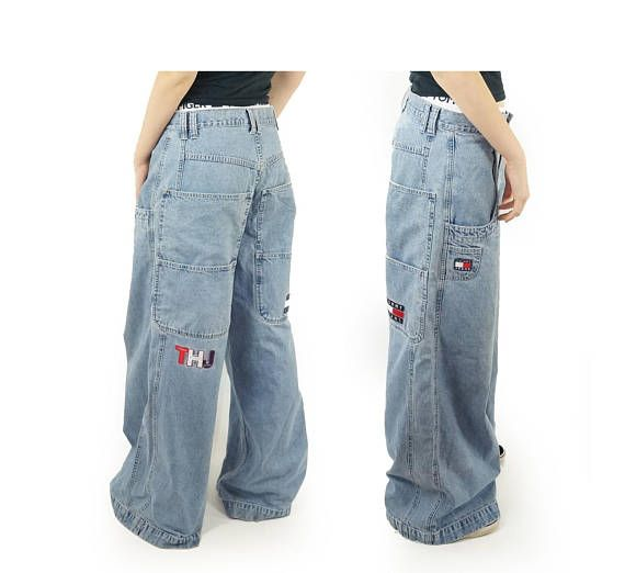 Tommy Jeans Late 90s Wide Leg Baggy Jeans 90s Designer Jeans