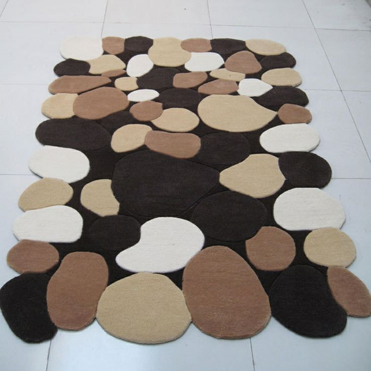 Stone Shaped Unique Design Acrylic Rug Enjoyglobe Com S