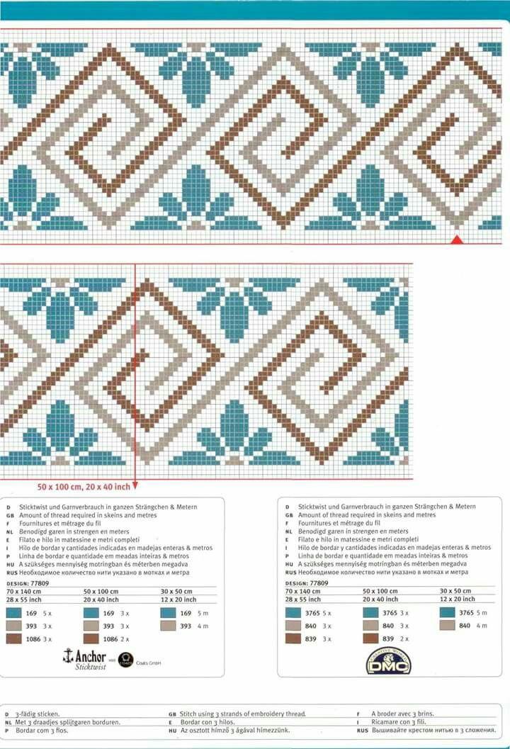 Wayuu Mochila pattern / chart for cross stitch, crochet, knitting, knotting, beading, weaving, pixel art, micro macrame, and other crafting projects.