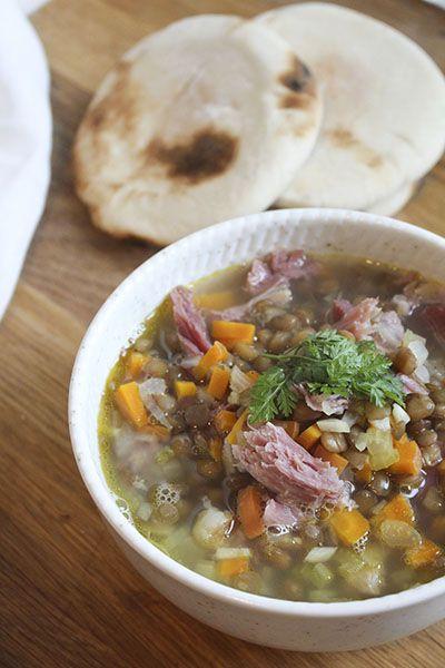 Ham Hock Soup with Lentils