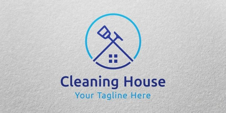 Cleaning House Logo Template for Sale, only 19$ + VAT