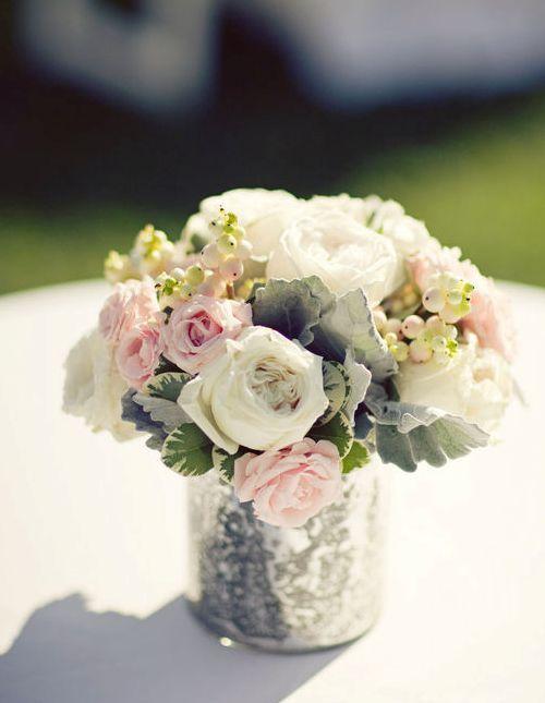 Dusty Miller, Bupleurum, Peonies, Roses, Sweetheart Roses