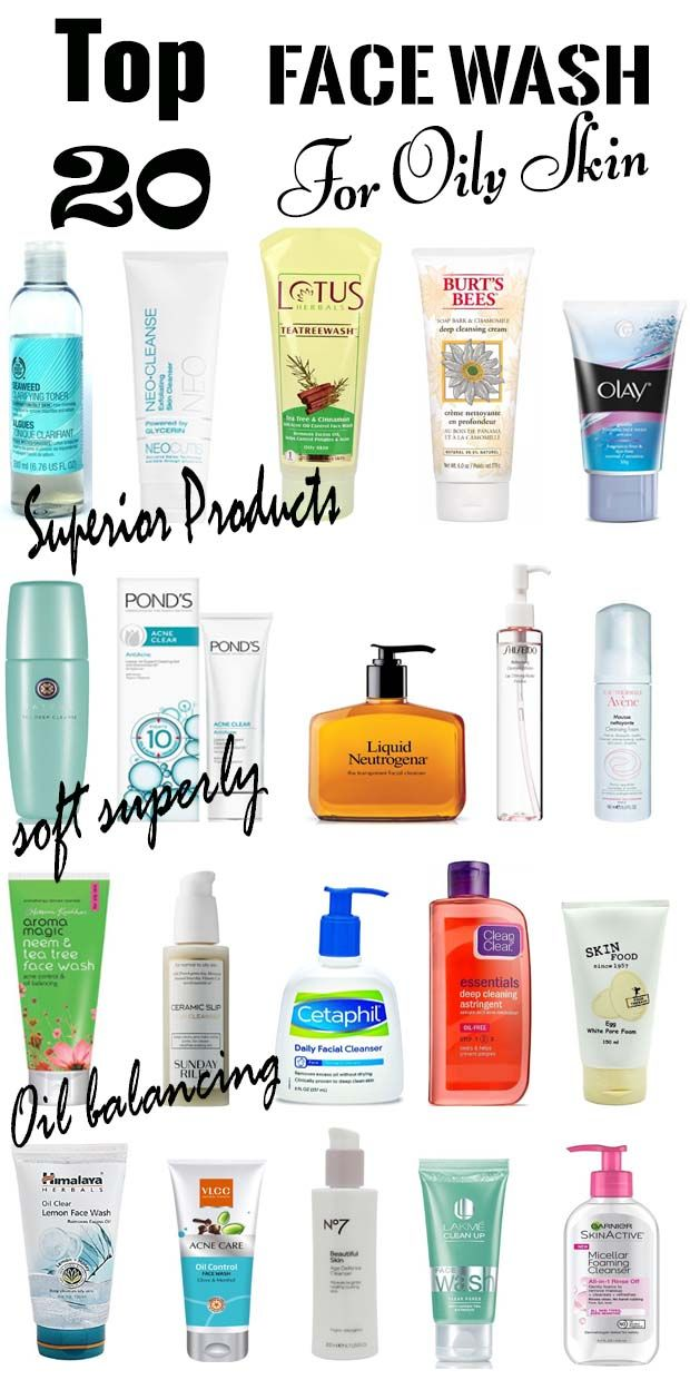 Best Face Wash For Oily Skin Drugstore Cleanser Products