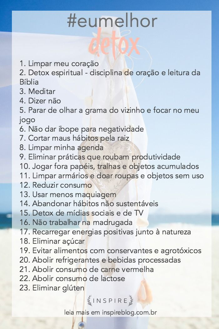 Meu primeiro desafio do ano é um plano de detox de 21 dias! Um detox de corpo, alma e espírito! Quem se anima a fazer esse projeto comigo? #eumelhor #inspireblog #inspireeumelhor #eumelhor2016 http://lifestyle.inspireblog.com.br/projeto-eumelhor-detox-21-dias/