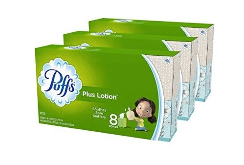 Amazon: Puffs Plus Lotion Facial Tissues, 24 Cube Boxes (56 Tissues per Box) ONLY $19.65 {81¢/box}