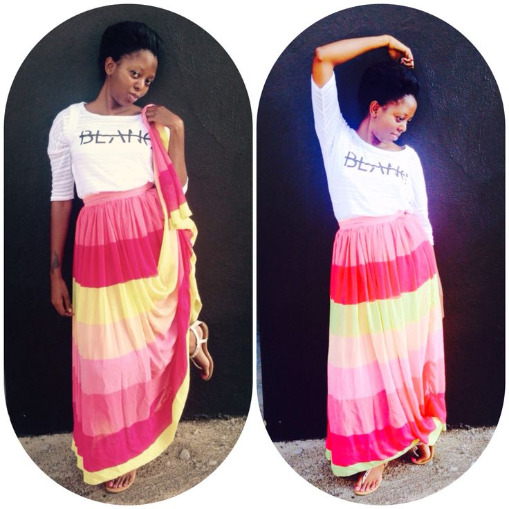 Summer Time...lollipop maxi skirt made by me myself n I