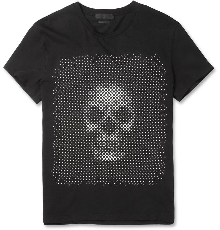 Alexander McQueenDotted Skull-Print Cotton-Jersey T-Shirt|MR PORTER