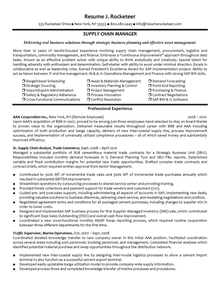 25+ Best Ideas About Project Manager Resume On Pinterest | Project