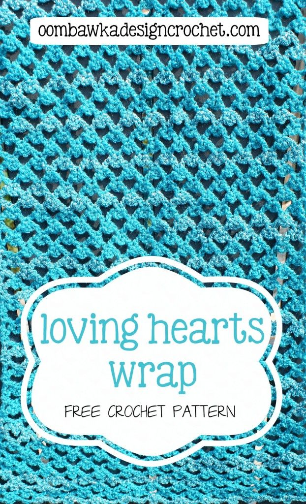 free pattern wrap loving hearts