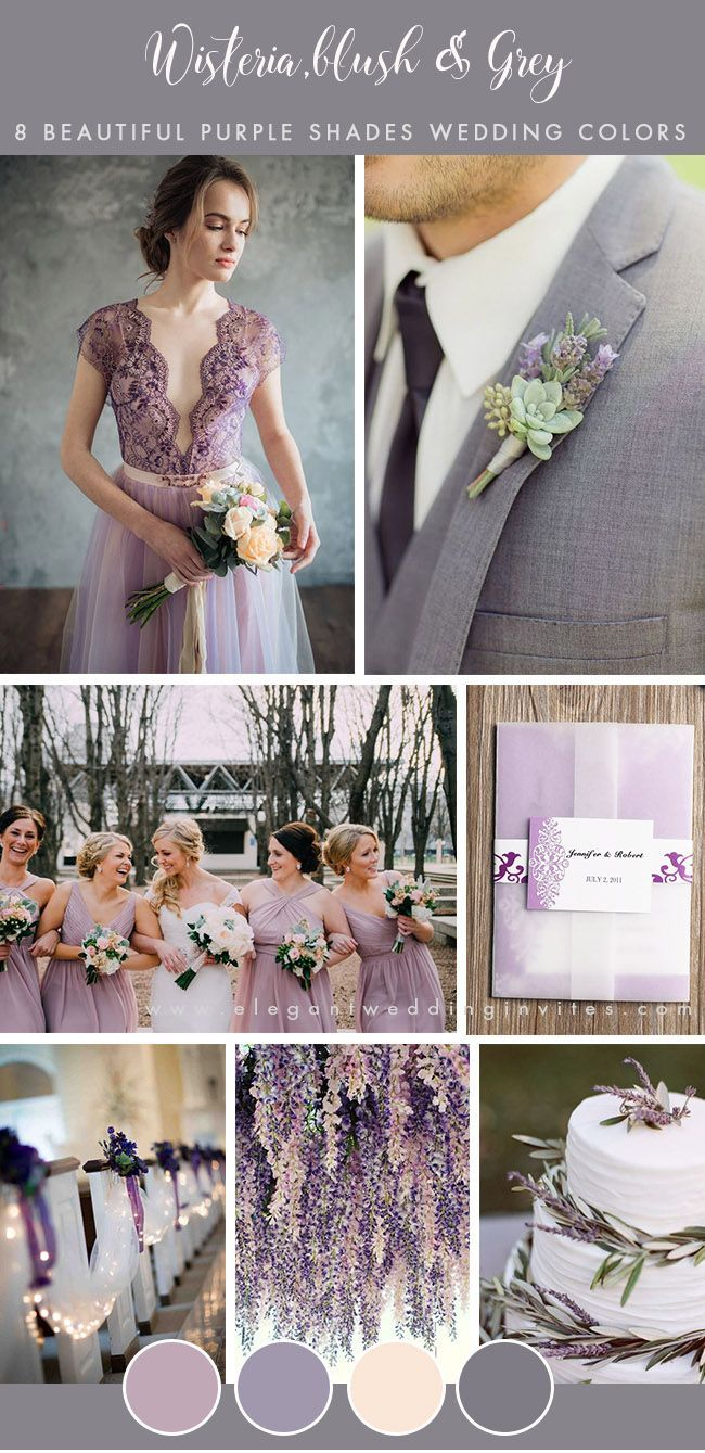 8 Stunning Wedding Colors In Shades Of Purple Gray Wedding