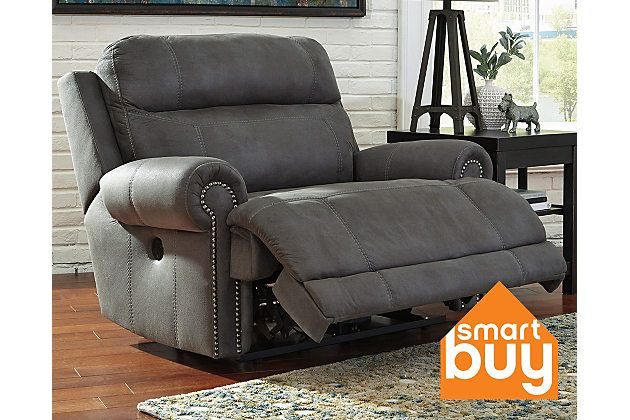 Gray Austere Oversized Power Recliner View 1