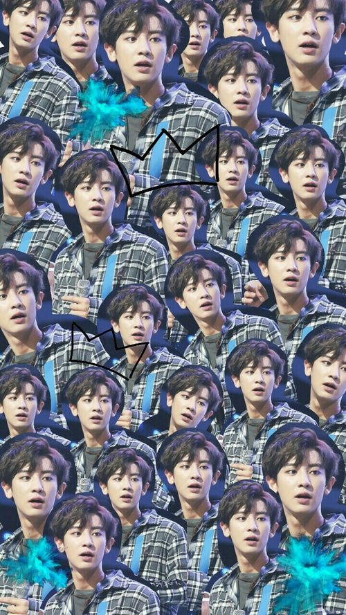 blue, Collage, and chanyeol image