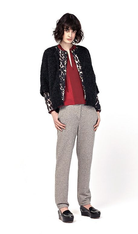 Lilac Jacket, Nahf Cardigan, Sinko Pants. Available at www.love4labels.nl