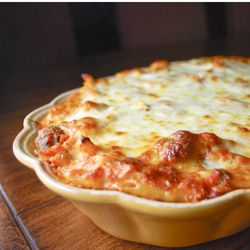 Warm, filling, delicious Baked Ziti with Mini Meatballs. pasta cooking food dinner