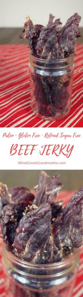 Paleo Gluten Free Refined Sugar Free Beef Jerky
