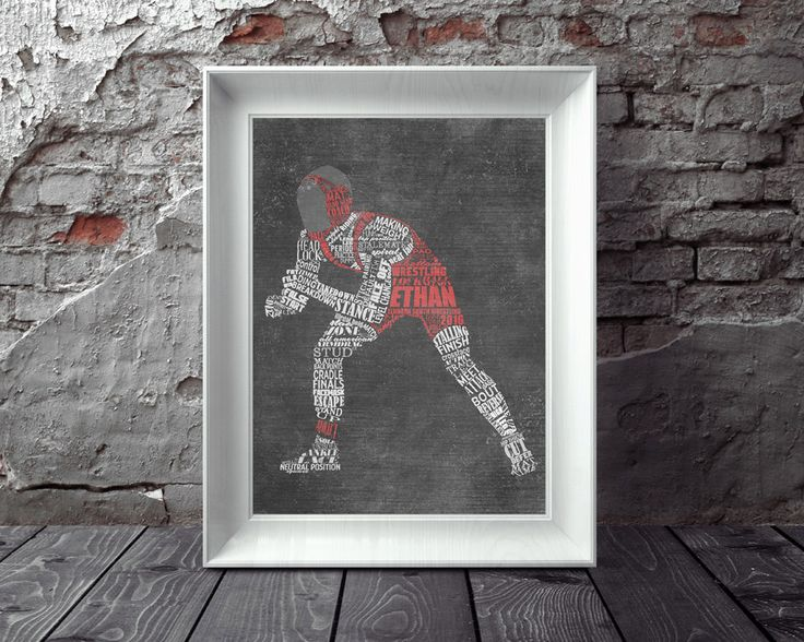 Personalized WRESTLING Silhouette Printed or Printable Artwork Great Wrestling Coach Gift, Wrestler Gift Wrestling Team Gift Wrestling Mom by ShaunaSmithDesigns on Etsy
