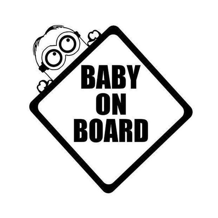 "5 x 5 white vinyl decal "" Baby on board"" 