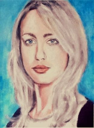 Ruta Gedmintas, British actress of Lithuanian descent, acrylic on canvas