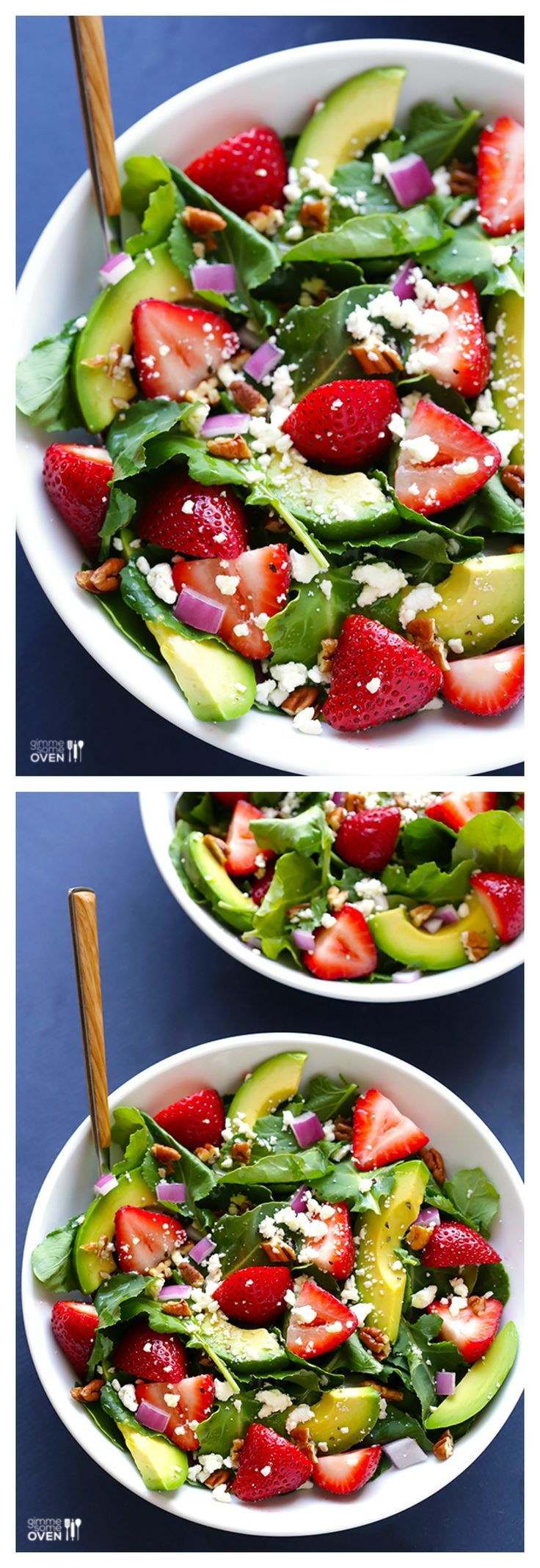 Strawberry Kale Salad -- fresh, healthy, and crazy good   gimmesomeoven.com