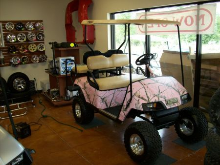 pink camo golfcart  | EZGO GOLF CART Golf Cart / Utility For Sale in Outside Louisiana ...