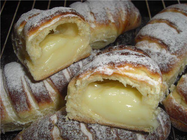 Булочки «Крем-де-Паризьен» : Выпечка сладкая