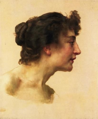 Study of the Head of Elize - William-Adolphe Bouguereau, c.1896, 164/243.