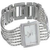 Anne Klein Women's 10-7209SVSV Diamond Accented Silver-Tone Bracelet Watch (Watch)By Anne Klein