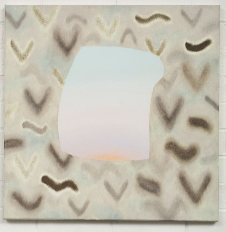 Amber Wilson, Factotum in Ellipse, 2014, Oil on canvas, 600 x 600mm from Beneath Ambient Eaves, 12/07/14 - 9/08/14