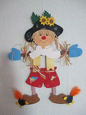 Fensterbild Tonkarton * Photo Paper * Madárijesztő Berti * Őszi * Deco * gyerekek * 2 • 12.50 EUR