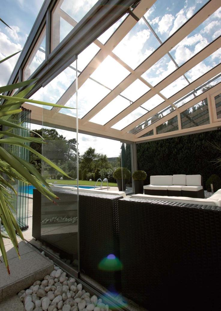 17 mejores im genes sobre cortinas de cristal glass for Cerramientos patios interiores