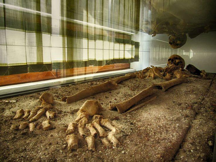 The skeleton of the Sozopol vampire, Bulgaria